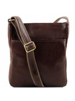 Кожаная мужская сумка на плечо Tuscany Leather JASON TL141300 Dark Brown