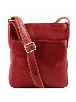 Красный мужской кожаный мессенджер Tuscany Leather JASON TL141300 Red