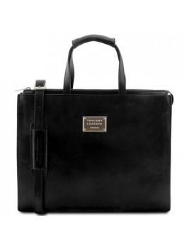 Чорний жіночий шкіряний портфель Tuscany Leather TL141343 Black