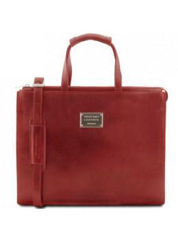 Червоний шкіряний жіночий портфель Tuscany Leather TL141343 Red