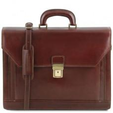 Коричневый кожаный портфель мужской Tuscany Leather TL141348 Brown