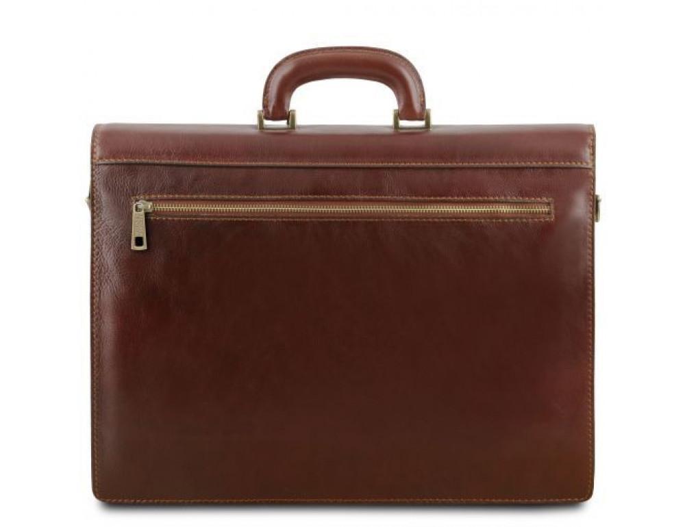 Чёрный мужской портфель Tuscany Leather TL141350 Black - Фото № 4