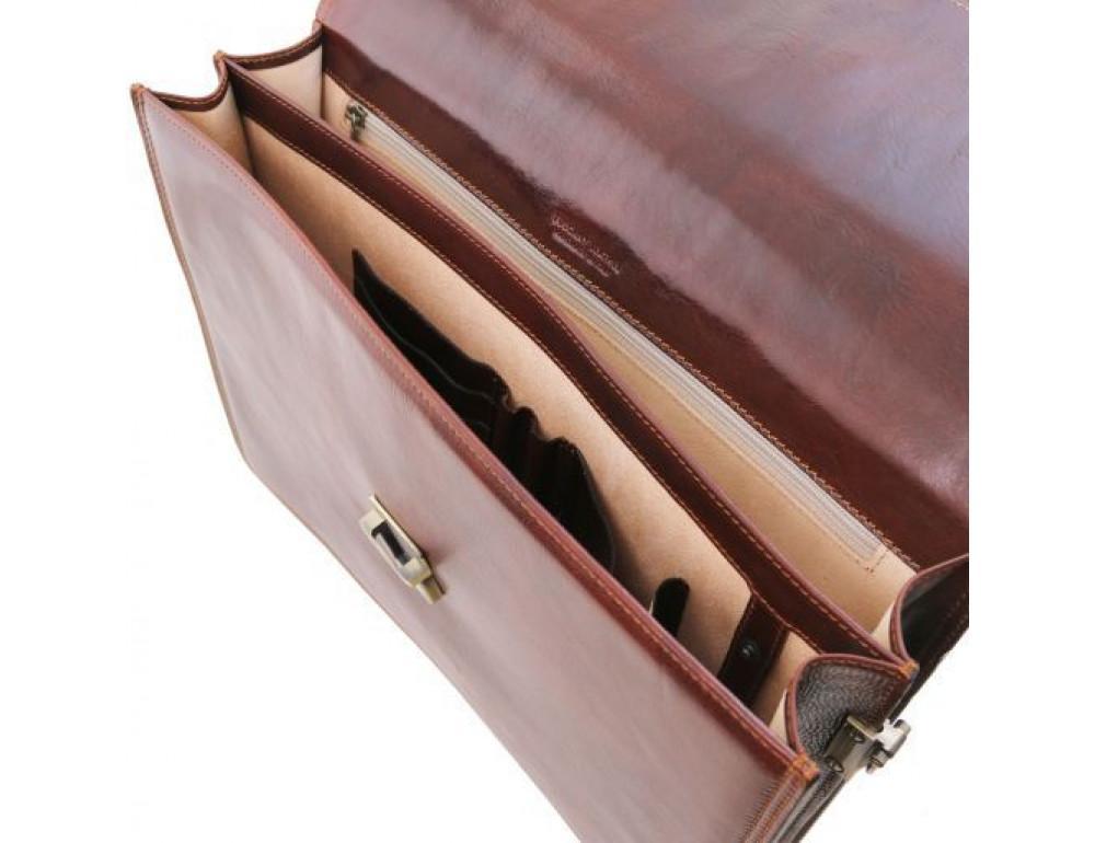 Чёрный мужской портфель Tuscany Leather TL141350 Black - Фото № 5