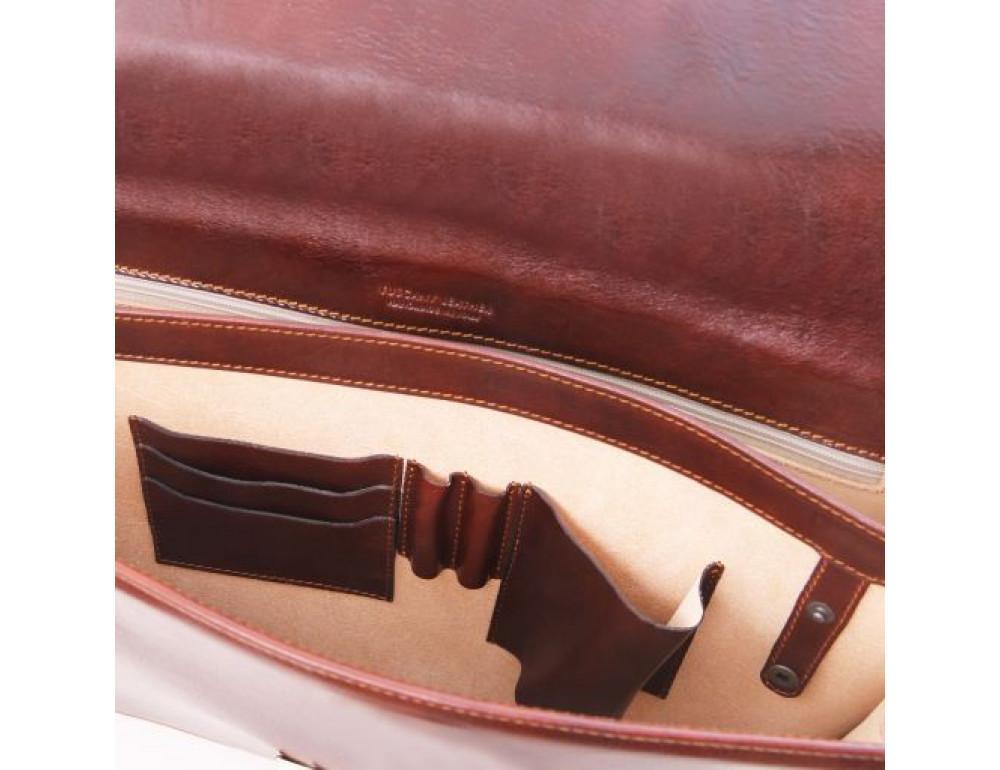 Чёрный мужской портфель Tuscany Leather TL141350 Black - Фото № 6