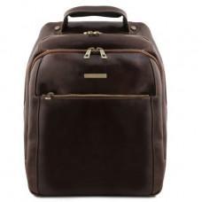 Мужской кожаный рюкзак на три отделения Tuscany Leather TL141402 Dark Brown