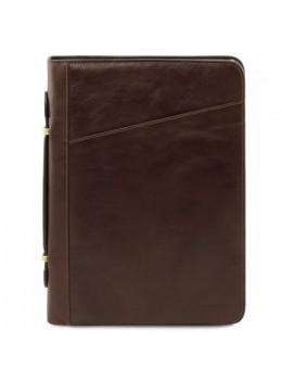 Большая кожаная папка для документов CLAUDIO Tuscany Leather TL141404 Dark Brown