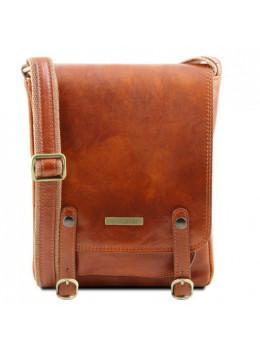 Светло-коричневая мужская сумка через плечо Tuscany Leather TL141406 Med