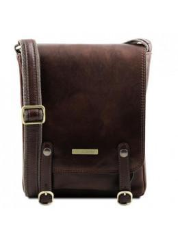Тёмно-коричневая мужская сумка через плечо Tuscany Leather TL141406 Darck Brown