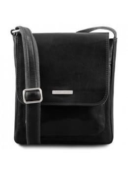 Черная мужская наплечная сумка JIMMY Tuscany Leather tl141407 Black
