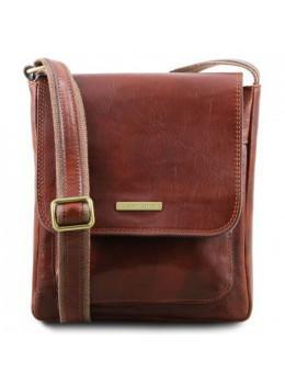 Коричнева чоловіча сумка через плече JIMMY Tuscany Leather tl141407 Brown