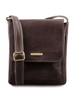 Темно-коричневая мужская сумка через плечо JIMMY Tuscany Leather tl141407 Dark Brown