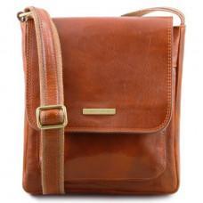 Светло-коричневая мужская сумка через плечо Tuscany Leather tl141407 Med