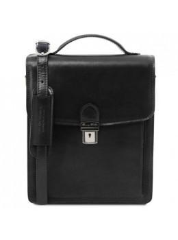 Черная классическая барсетка для мужчины Tuscany Leather tl141424 Black