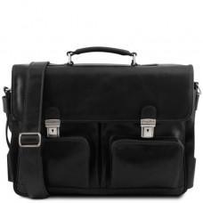 Мужской кожаный портфель Tuscany Leather TL141449 Black