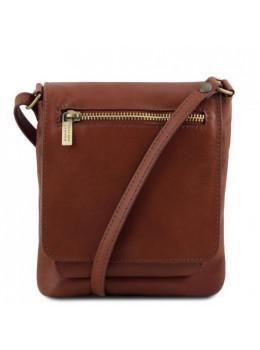 Коричневая кожаная сумка через плечо Tuscany Leather TL141510 Brown