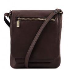 Тёмно-коричневая сумочка через плечо унисекс Tuscany Leather TL141510 Dark Coffe