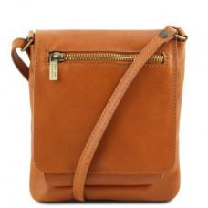 Светло-коричневая кожаная сумочка через плечо Tuscany Leather TL141510 Med