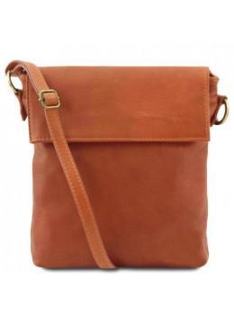 Светло-коричневая сумочка через плечо из маленьким клапаном Tuscany Leather TL141511 Med