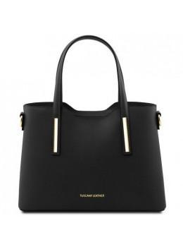 Женская кожаная сумочка для бизнес леди Olimpia TL141521 Black