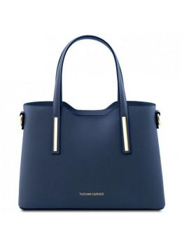 Классическая женская сумочка OLIMPIA Tuscany Leathe TL141521 Dark Blue