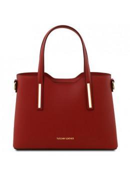 Красная женская сумка из кожи OLIMPIA Tuscany Leathe TL141521 Red