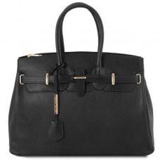 Кожаная женская сумка большого размера Tuscany Leather TL141529 Black