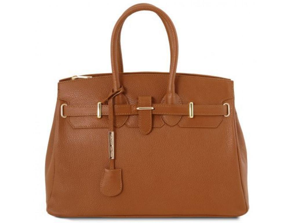 Кожаная сумка женская на 15 дюймов Tuscany Leather TL141529 COGNAC - Фото № 1