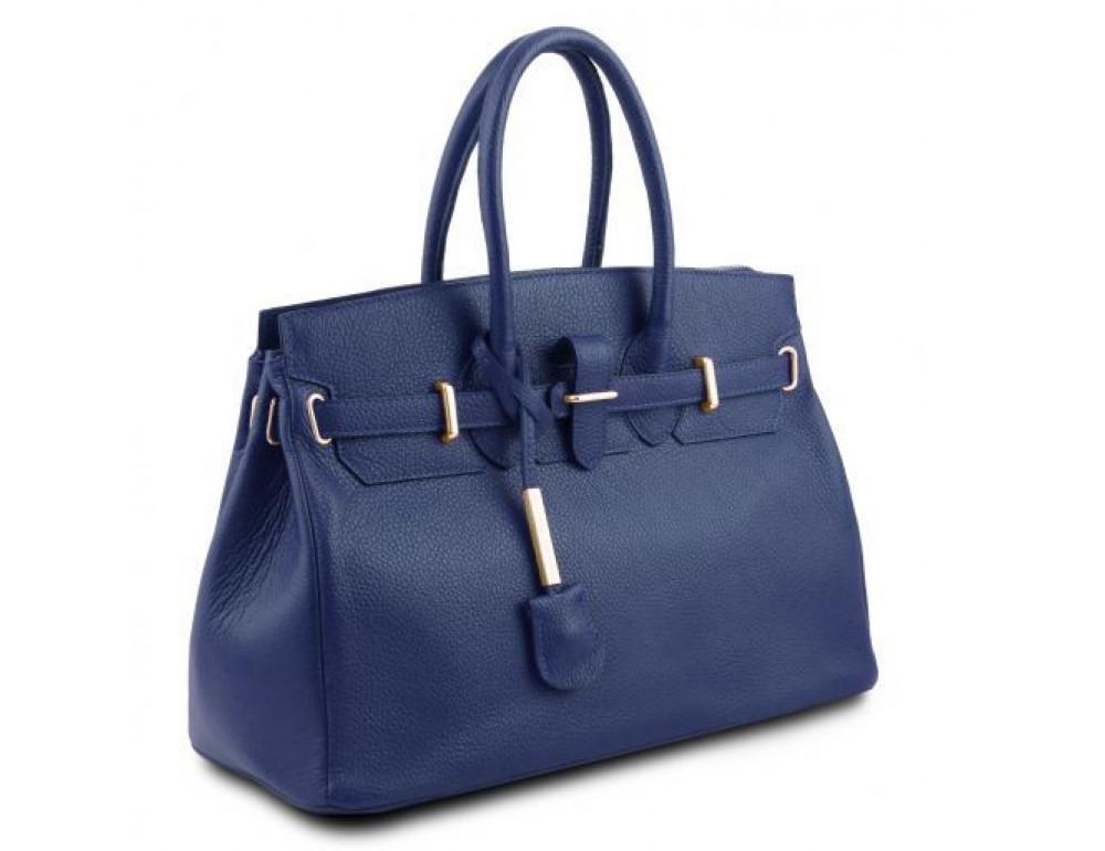 Тёмно-синяя женская кожаная сумка Tuscany Leather TL141529 Dark Blue - Фото № 2