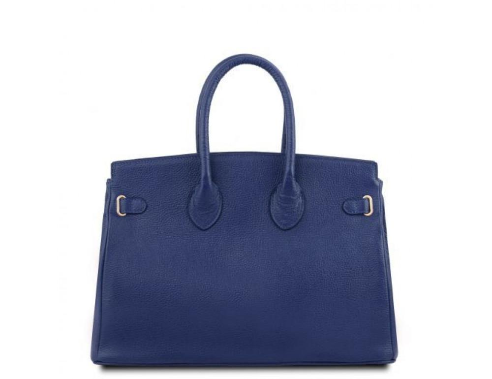 Тёмно-синяя женская кожаная сумка Tuscany Leather TL141529 Dark Blue - Фото № 3