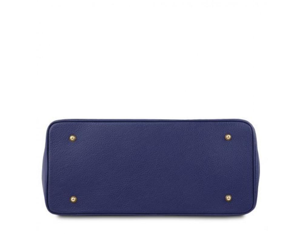 Тёмно-синяя женская кожаная сумка Tuscany Leather TL141529 Dark Blue - Фото № 4