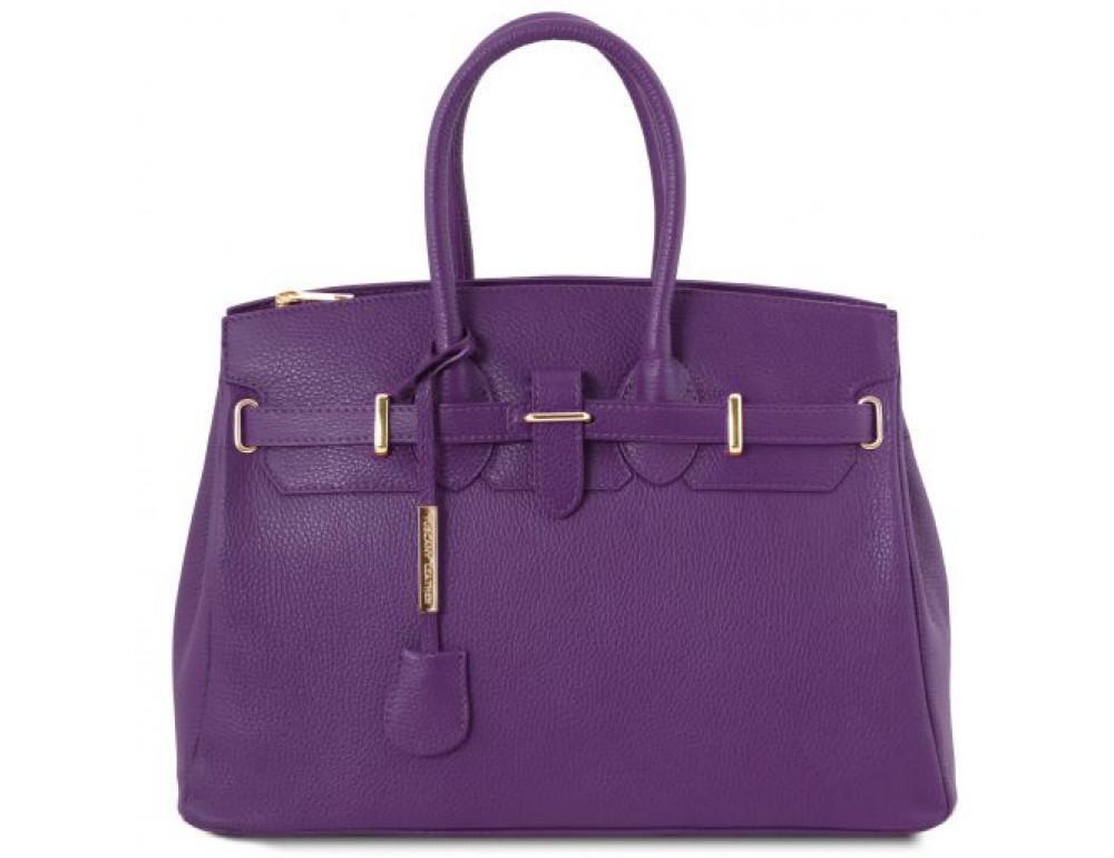 Фиолетовая женская кожаная сумка Tuscany Leather TL141529 PURPLE - Фото № 1