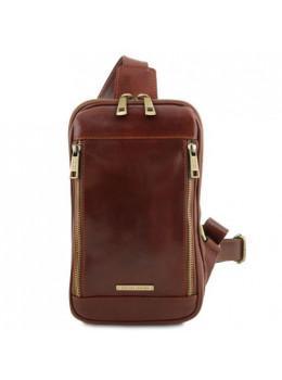 Коричневая мужская сумка слинг Tuscany Leather TL141536 Brown