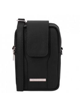 Чёрная сумочка чехол женская Tuscany Leather TL141698 Black