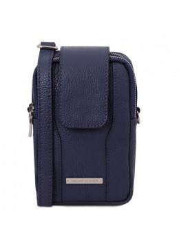 Тёмно-синяя женская сумка чехол Tuscany Leather TL141698 Blue