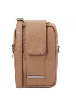 Бежевая женская сумка чехол Tuscany Leather TL141698 CHAMPAGNE