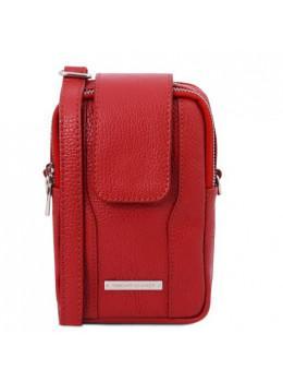 Красная женская сумка из натуральной кожи Tuscany Leather TL141698 Red