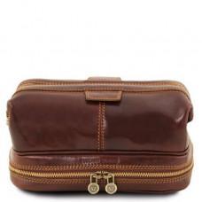 Коричневая кожаная мужская косметичка Tuscany Leather TL141717 Brown