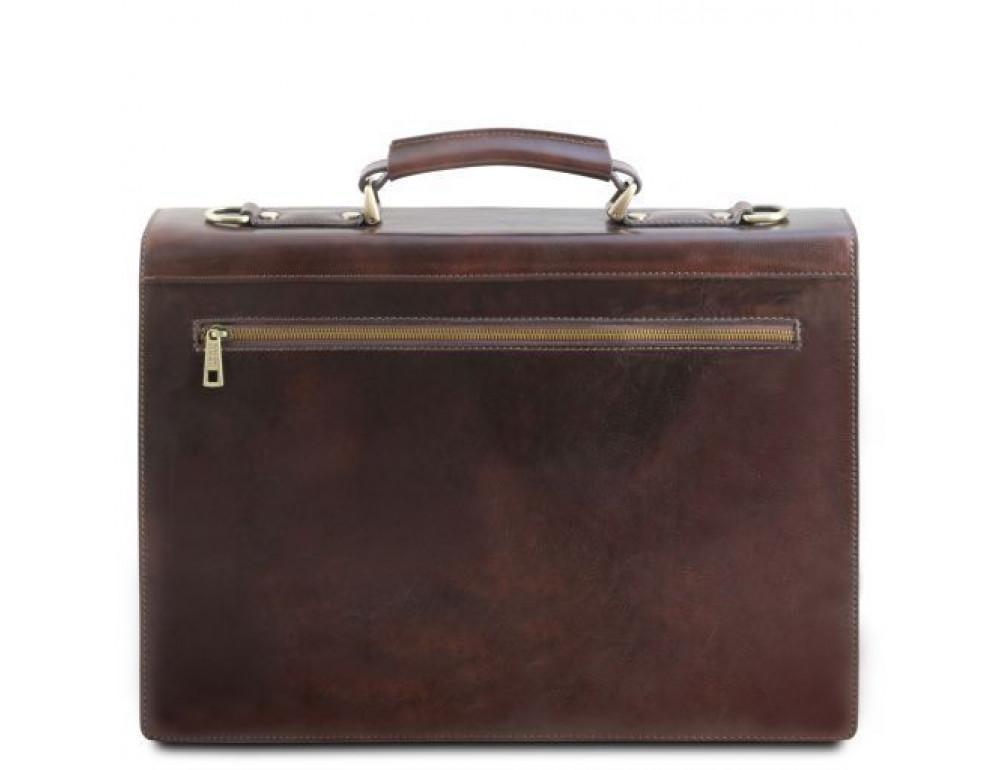 Черный кожаный портфель мужской Tuscany Leather TL141732 Black - Фото № 3