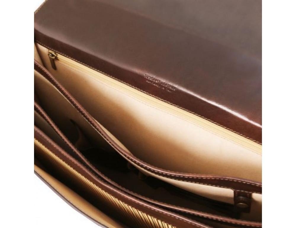 Черный кожаный портфель мужской Tuscany Leather TL141732 Black - Фото № 7