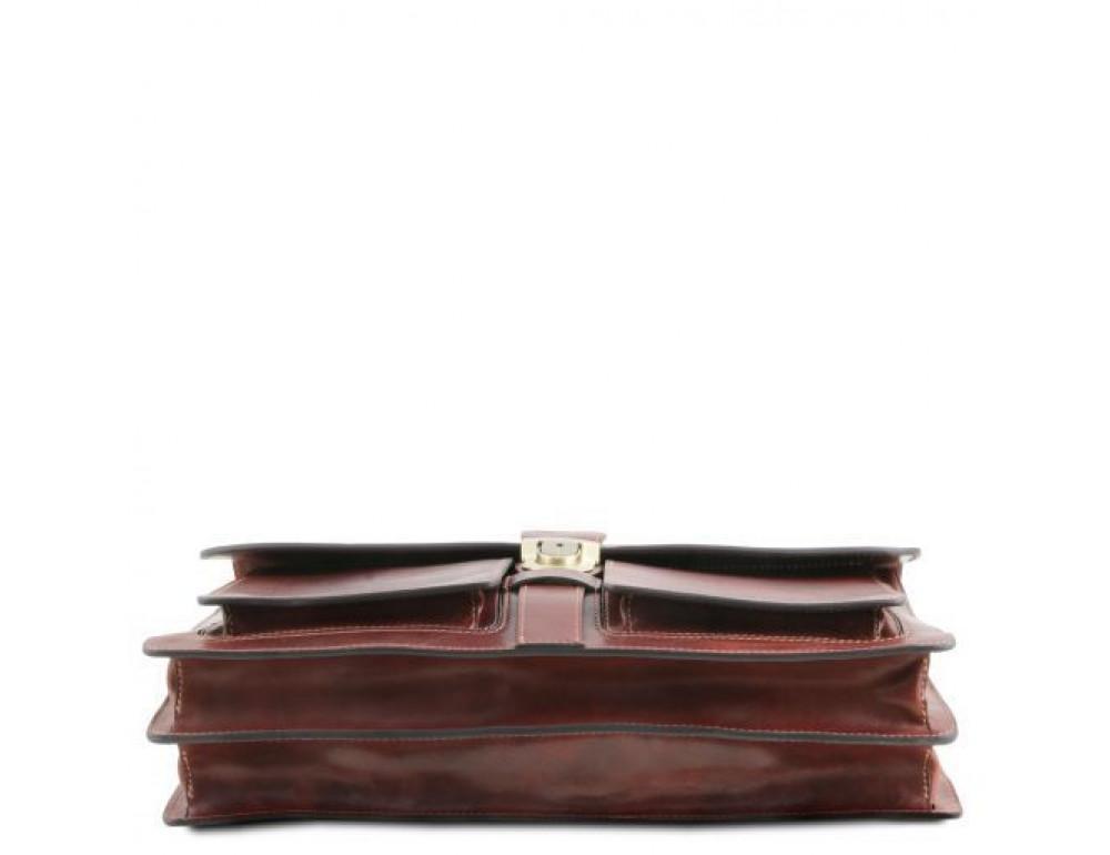 Большой чёрный портфель Tuscany Leathe TL141825 Black - Фото № 5