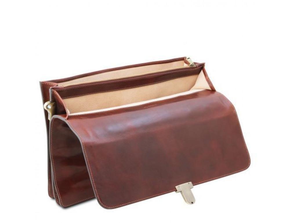 Большой чёрный портфель Tuscany Leathe TL141825 Black - Фото № 8