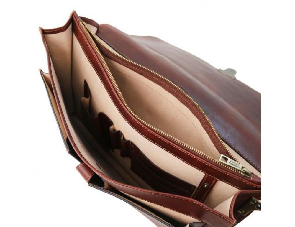 Большой чёрный портфель Tuscany Leathe TL141825 Black - Фото № 10