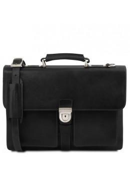 Великий чорний портфель Tuscany Leathe TL141825 Black