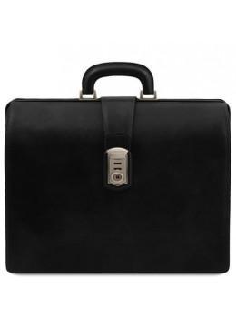 Мужской кожаный саквояж-портфель Tuscany Leather TL141826 Black