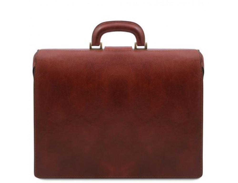 Светло-коричневый кожаный саквояж-портфель Tuscany Leather TL141826 Med - Фото № 4