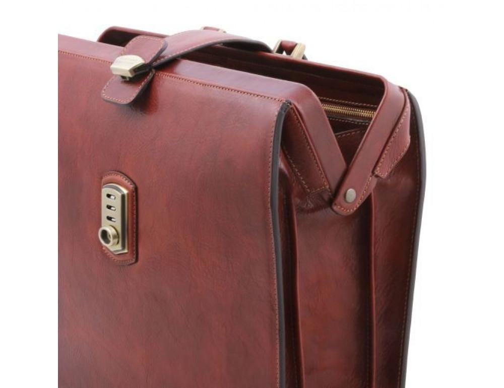 Светло-коричневый кожаный саквояж-портфель Tuscany Leather TL141826 Med - Фото № 5