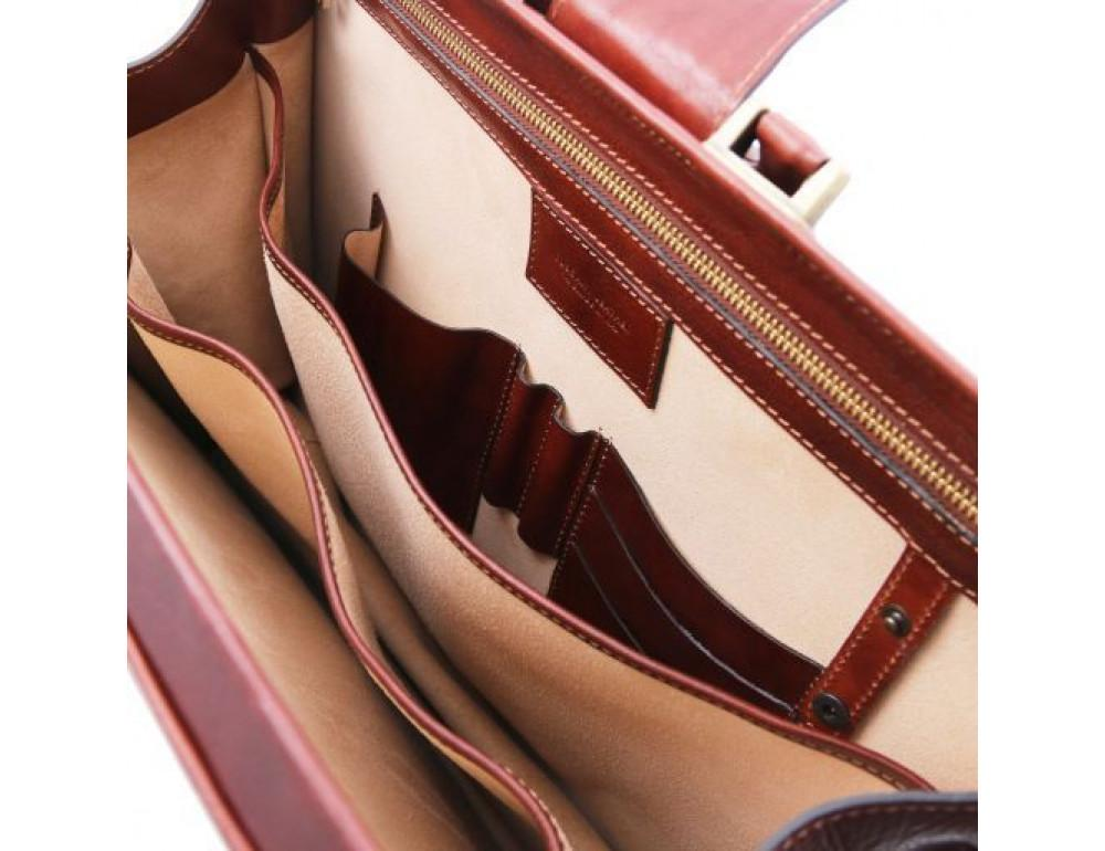 Светло-коричневый кожаный саквояж-портфель Tuscany Leather TL141826 Med - Фото № 7