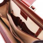 Светло-коричневый кожаный саквояж-портфель Tuscany Leather TL141826 Med - Фото № 106