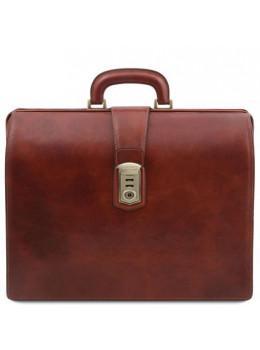 Кожаный мужской саквояж-портфель Tuscany Leather TL141826 Brown