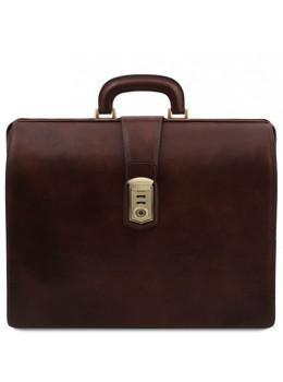 Большой мужской саквояж-портфель Tuscany Leather TL141826 Dark Brown
